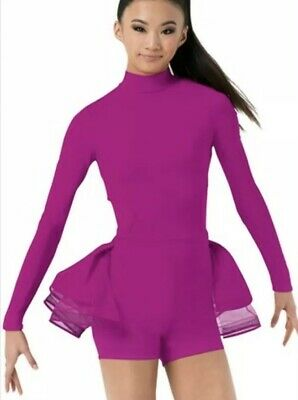 Balera Adult Long Sleeve Bustle Biketard/Leotard Size L BNWT