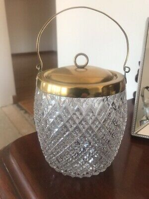 Antique Glass Biscuit Barrel