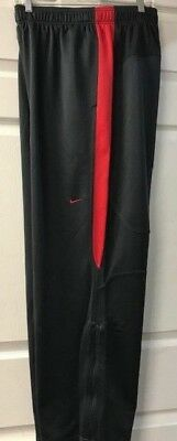 Nike Men's Players Training Warm Up Pants Anthracite/Scarlet 100% Polyester