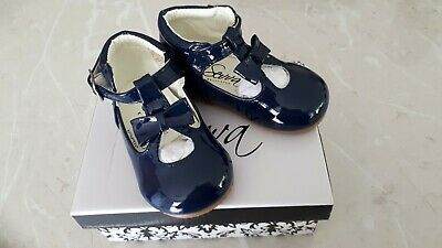 Sevva Navy Patent Baby Shoes Size 4