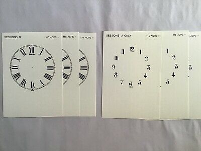 6 Replacement Dials for USA Antique 1900 Sessions Mantel Clocks New Reproduction
