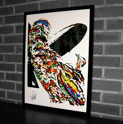 Jimmy Page Led Zeppelin Guitar Rock Music Poster Print Wall Art 18x24