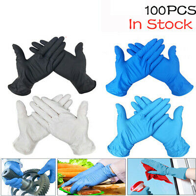 100 Pcs Disposable Gloves Nitrile Glove for Cleaning Kitchen Powder