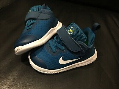 Nike Free RN 2018 7C Blue White Toddler Infant Shoes Sneakers Brand New