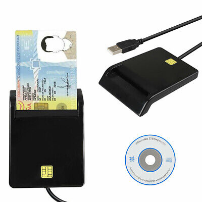 USB2.0 Smart Card Reader DOD Military CAC Common Access-Bank Card-ID For MacH_YB
