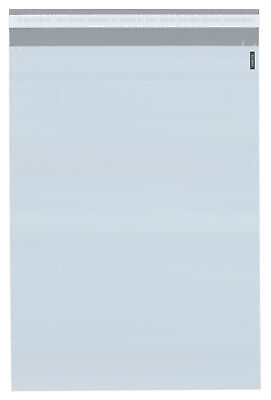 """Plymor Poly Mailer White/Gray Bag with Closure and Strip, 9"""" x 12"""" (Cse of 1000)"""