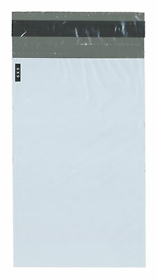"""Plymor Poly Mailer White/Gray Bag with & Tear Strip, 6"""" x 9"""" (Case of 1000)"""