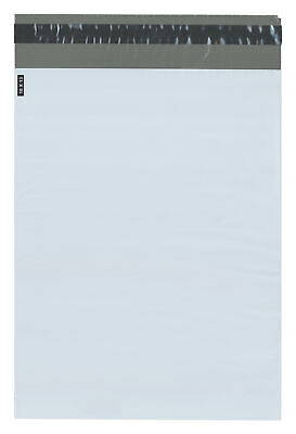 """Plymor Poly Mailer White/Gray Bag w/ Closure and Strip, 10"""" x 13"""" (Case of 1000)"""