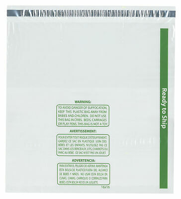 """Plymor Ready to Ship 1.5 Mil Wicketed Plastic Bags, 16"""" x 16"""" (Pack of 250)"""