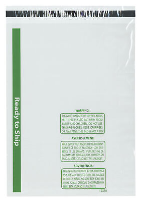 """Plymor Ready to Ship 1.5 Mil Wicketed Plastic Bags, 12"""" x 16"""" (Pack of 500)"""