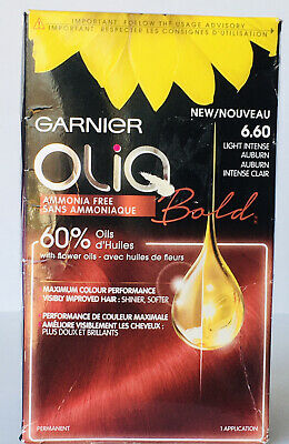 Garnier Olia Bold Hair Color Ammonia Free Permanent 6.60 Light Intense Auburn