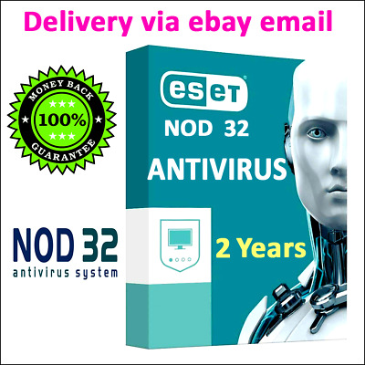 ESET NOD32 Antivirus 2020 key activation, 2 year, instant  delivery