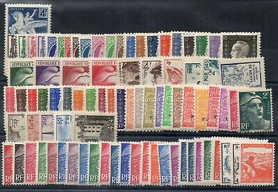 FRANCE: ANNEE COMPLETE 1945 DE 85 TIMBRES NEUF* N°669/747 Cote: 50,00 €
