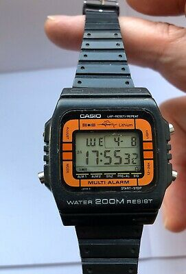 VINTAGE Casio Marlin DW200-4 1980's Great Condition Ultra Rare Divers Watch