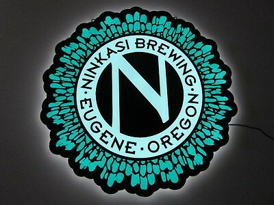 NEW Ninkasi Brewing Eugene Oregon Edge Lit Beer Sign Light Man Cave Neon Bar Pub