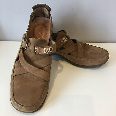 Timberland Smart Comfort System Size 6 (USA 8W) Sandal Flat Shoe Brown Suede