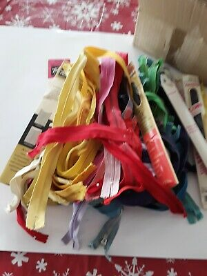 Lot Of Vintage Zippers