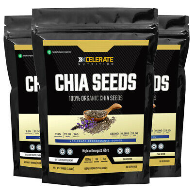 **ORGANIC** Raw Whole Chia Seeds Natural Weight Loss & Detox - Various Sizes