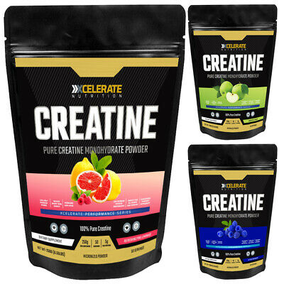Xcelerate Creatine Monohydrate Powder 250g-1kg 100% Pure Micronized Flavoured