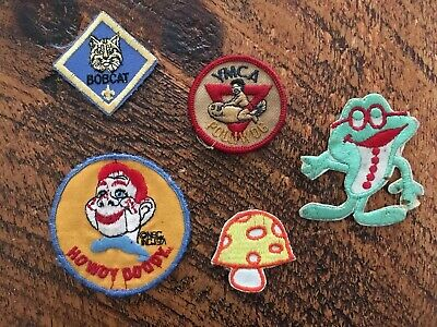 Vtg Lot Of(5)assorted Sew On Patches