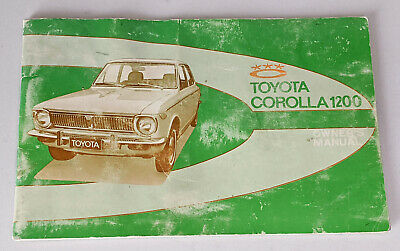Toyota Corolla 1200 Owners Manual  With Electrical Diagrams