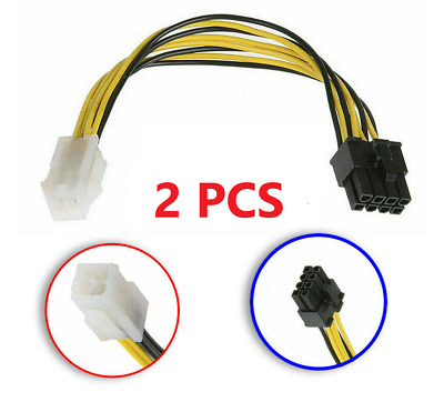 4Pin to 8Pin Convert Extension Cable Converter Adapter Cable For Power Supply