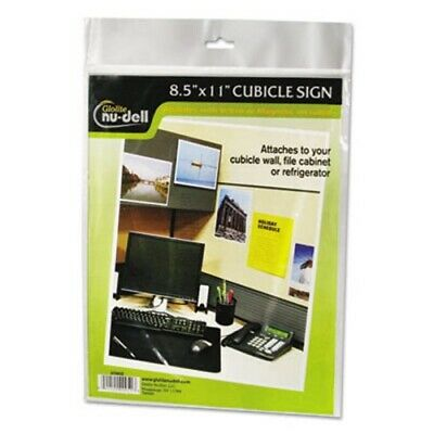 Nu-dell Clear Plastic Sign Holder, All-Purpose, 8 1/2 x 11 (NUD37085Z)