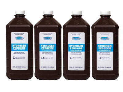 LOT OF 4 - Hydrogen Peroxide 3% First Aid Antiseptic Disinfectant - 32 OZ EACH