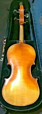 Old Antique French Violin Vuillaume A Paris Parts or Repair w/ German Bow + Case
