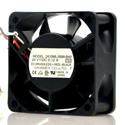 1pcs Used NMB 2410ML-05W-B49 6025 24V 0.12A 6CM 1.5kw Large air Volume Fan
