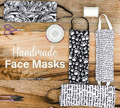Cotton Face Masks - Fabric Face Mask - Stylish - Adults - Pocket For Filter
