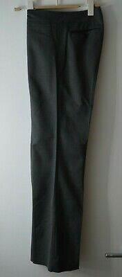 Reiss Charcoal Suit Trousers Wool Blend Size 6