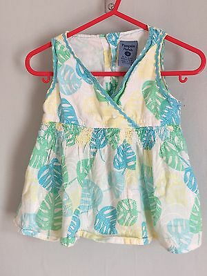 Lovely Girls Pumpkin Patch Leafy Summery Print Top 3 Yrs 🌸