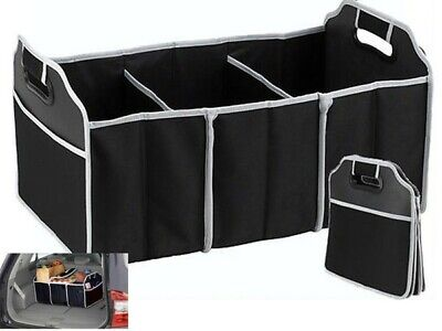 2 in 1 Collapsible Car Boot Organiser Foldable Shopping Tidy Storage