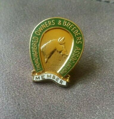 Thouroghbred Horses Owners & Breeders Association Member Pin
