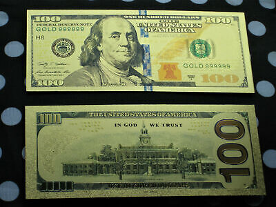 10 Gold 24K Foil Banknote paper Note Dollar Bill USA Currency Money Collectible