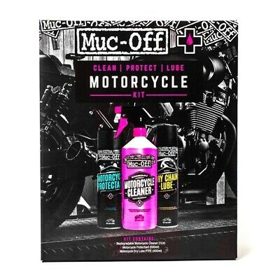 Muc-Off Motorcycle Clean Protect and Lube Kit 400 ml, 500 ml, 1 L / 0.26 G