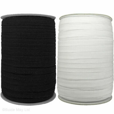FLAT CORDED ELASTIC  Dress Making Sewing Masks 3, 5, 6, 8, 12 mm