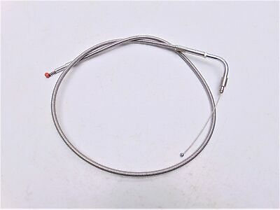 "Barnett Harley Davidson Stainless Clear-Coated Idle Cable 32.5"" 102-30-40038"