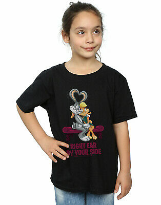 Looney Tunes Girls Bugs And Lola Valentine's Cuddle T-Shirt