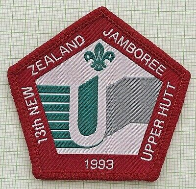 13th NZ Scout Jamboree - Official Badge - 1993 Upper Hutt, New Zealand