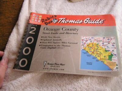 Thomas Guide 2000 Orange County: Street Guide and Directory, , Thomas Brothers M