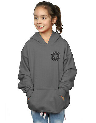 Star Wars Girls The Mandalorian Galactic Empire Insignia Breast Print Hoodie