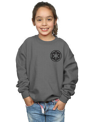 Star Wars Girls The Mandalorian Galactic Empire Insignia Breast Print Sweatshirt