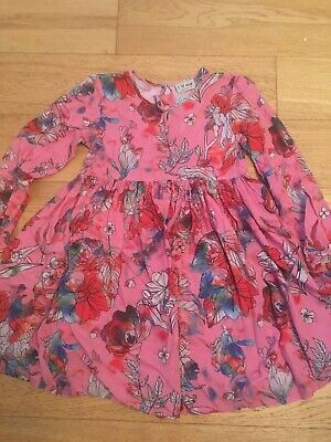 Next Girls Pink Floral Dress - Age 8 years