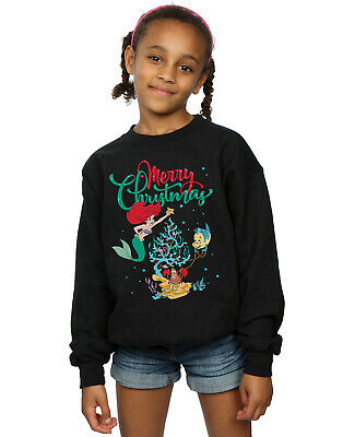 Disney Girls Princess Ariel Merry Christmas Sweatshirt