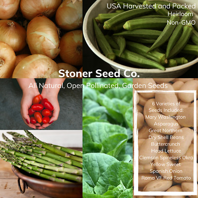 300+ Heirloom Vegetable Seed 6 Variety Garden Set #2 Emergency Survival Non-GMO