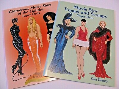 Paper dolls: Movie Star Vamps & Scamps, Glamorous Movie Stars of the 80s