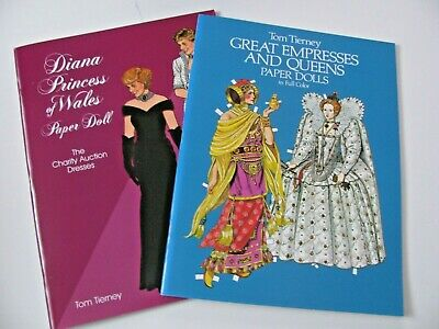 Paper Dolls by Tom Tierney,  Princess Diana and Great Empresses
