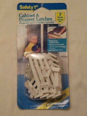 Safety 1st Cabinet & Drawer Latches 7 pack NIB NIP From 1996